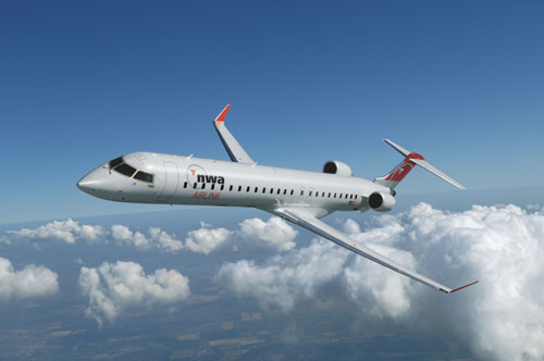 An artist's rendering of an Airlink CRJ-900